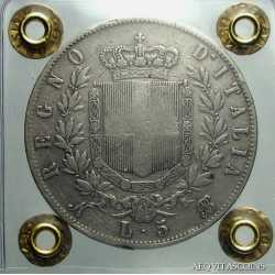 Vitt. Eman. II - 5 Lire 1864 N