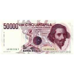 50.000 Lire Bernini 1986 Numeri Verdi