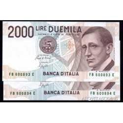 2000 Lire Marconi 1992 Numeri Verdi