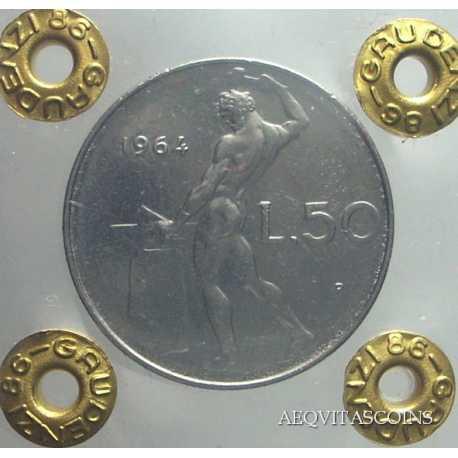 50 Lire Vulcano 1964 FDC