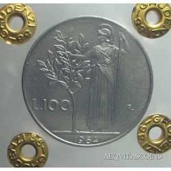 100 Lire Minerva 1964