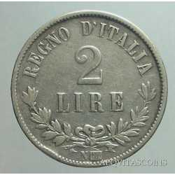Vitt. Eman. II - 2 Lire 1863 N Val.