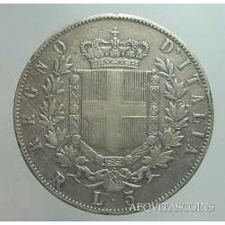Vitt. Eman. II - 5 Lire 1875 R