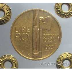 Vitt. Eman. III - 20 Lire Fascetto 1923 R