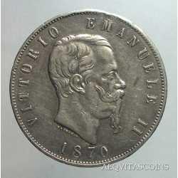 Vitt. Eman. II - 5 Lire 1870 M