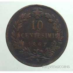 Vitt. Eman. II - 10 Cent 1867 N