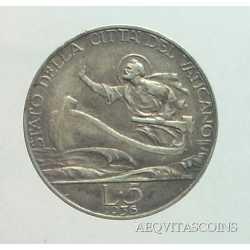 Vaticano - 5 Lire 1936