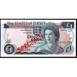 Jersey - 1 pound 1978 SPECIMEN