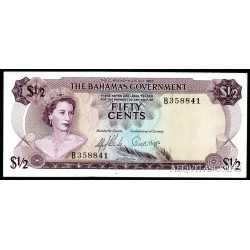 Bahamas - 1/2 Dollar 1965