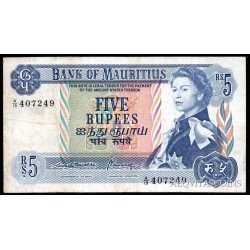 Mauritius - 5 rupees 1967