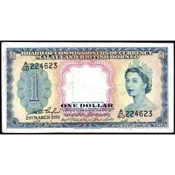 Malaya and British Borneo - 1 Dollar 1953