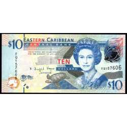 East Caribbean - 10 Dollars 2008