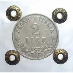 2 Lire 1863 N Valore