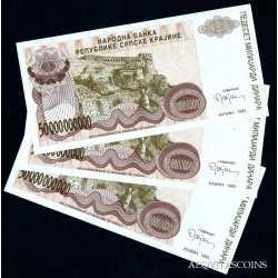 Croatia - 3 x 50.000.000.000 Dinar 1993