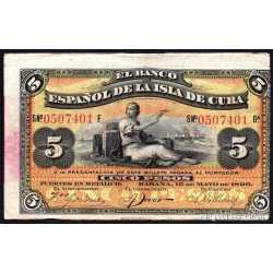 5 Pesos 1896