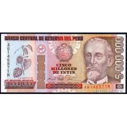 Perù - 5.000.000 Intis 1991