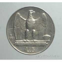 Vitt. Eman. III - 5 Lire 1928
