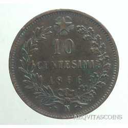 Vitt. Eman. II - 10 Cent 1866 N