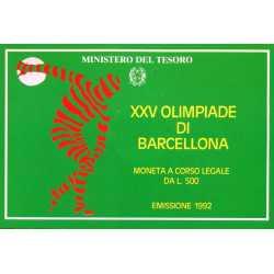 500 Lire 1992 Olimpiade Barcellona