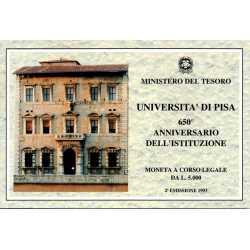 5000 Lire 1993 Università di Pisa
