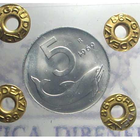 5 Lire 1969 - 1 Rovesciato