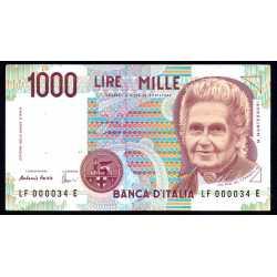 1000 Lire Montessori N.B.