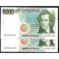 2 x 5000 Lire 1996 Bellini