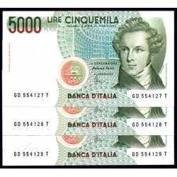 3 x 5000 Lire 1996 Bellini
