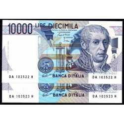 2 x 10.000 Lire A. Volta 1984 NC
