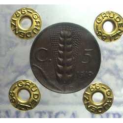 Vitt. Eman. III - 5 Cent 1919 NC