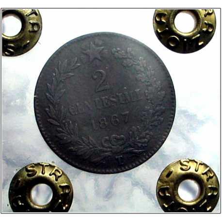Vitt. Eman. II - 2 Cent 1867 T NC