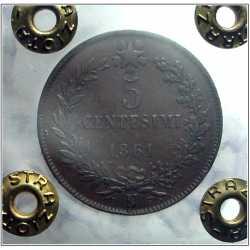 Vitt. Eman. II - 5 Cent 1861 N