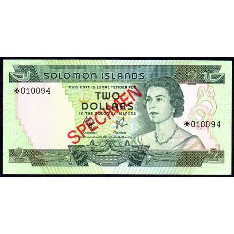 Solomon Islands - 2 Dollars 1979 Specimen