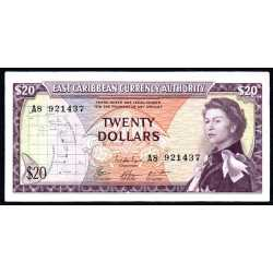 East Caribbean - 20 dollars 1965