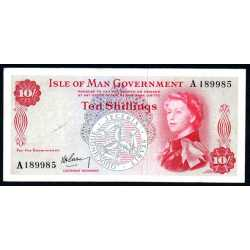 Isle of Man - 10 shillings 1961