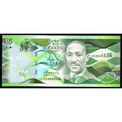 Barbados - 5 Dollars 2013