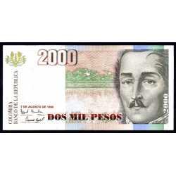 Colombia - 2000 Pesos 1998