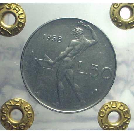 Repubblica - 50 Lire 1958 FDC