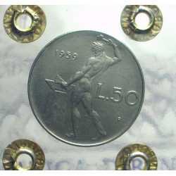 Repubblica - 50 Lire 1959 FDC