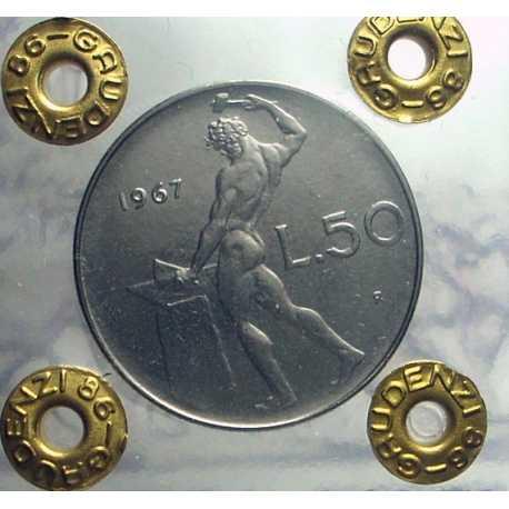 Repubblica - 50 Lire 1967 FDC