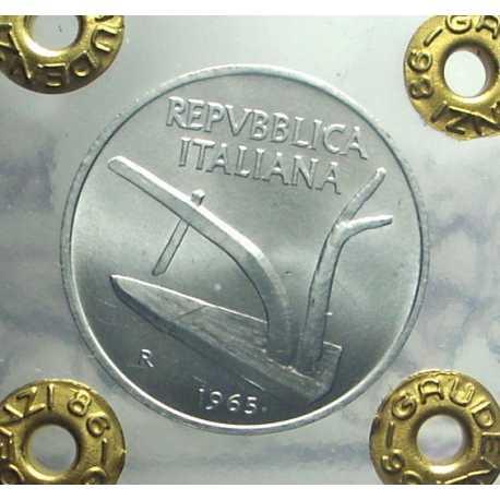 Repubblica - 10 Lire 1965 FDC