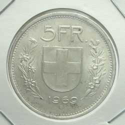 Switzerland - 5 Francs 1969