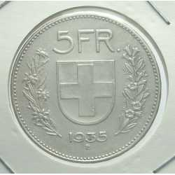 Switzerland - 5 Francs 1935