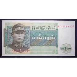 Burma, Birmania - 1 Kyat 1972