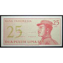 Indonesia - 25 Sen 1964