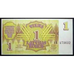 Latvia - 1 Rublis 1992