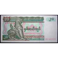 Myanmar - 20 Kyats 1997