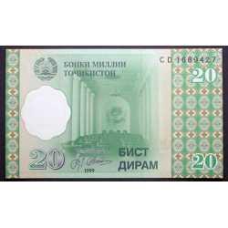 Tajikistan - 20 Diram 1999