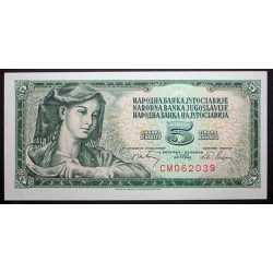 Yugoslavia - 5 Dinara 1968