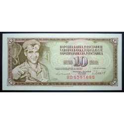 Yugoslavia - 10 Dinara 1981